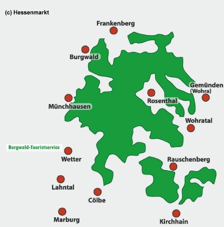 Karte Region Burgwald