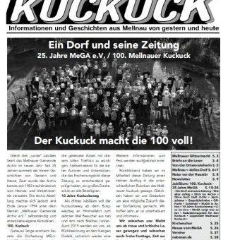 Jubiläumsausgabe: Der 100. Mellnauer Kuckuck ist da!