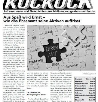 Der Mellnauer Kuckuck, Ausgabe 01/2020 ist da